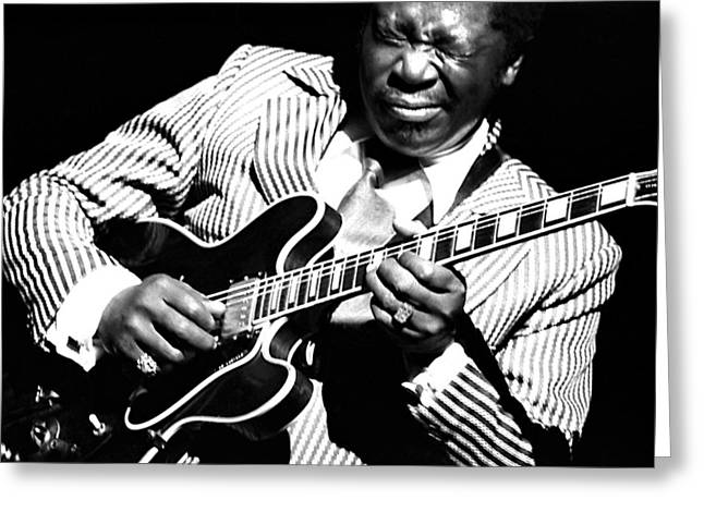 B.b. King - Squeezing Lucille Greeting Card