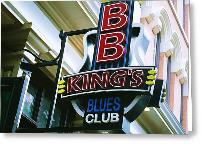 Bb King's Blues Club Greeting Card by Linda Unger