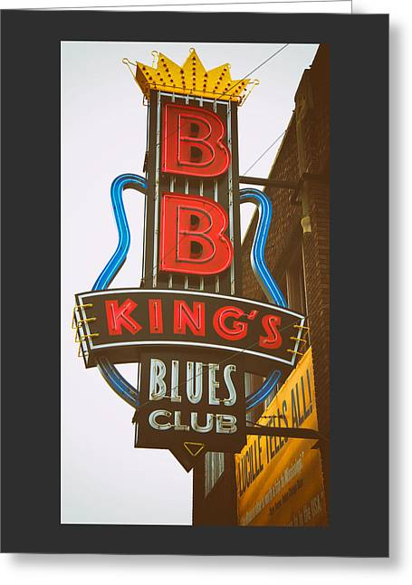 Greeting Card featuring the photograph Bb King's Blues Club by Mary Lee Dereske