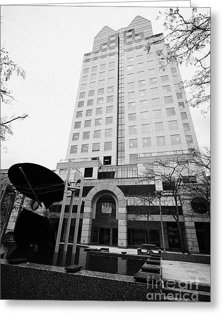 Bc Hydro Building Downtown Vancouver Canada Greeting Card by Joe Fox