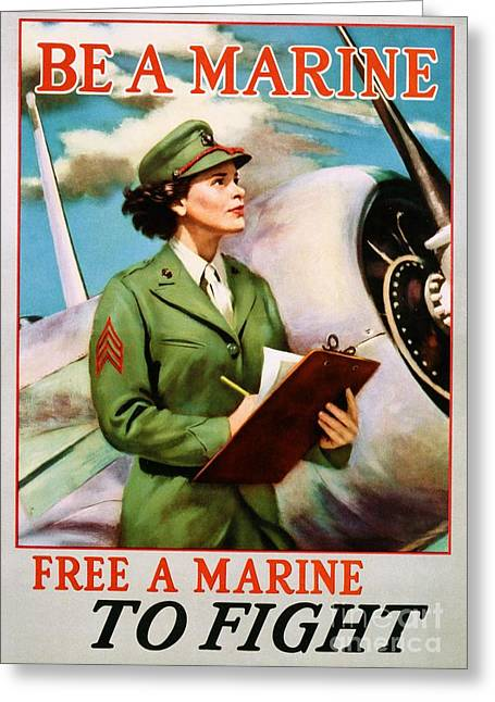 Be A Marine - Free A Marine To Fight Greeting Card