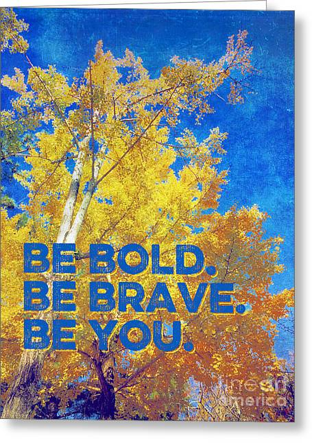 Be Bold Be Brave Be You Blazing Ginkgo Tree Greeting Card