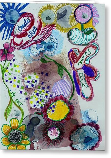 Be Create Live Art Greeting Card