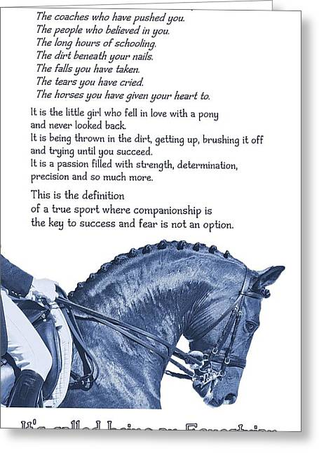 Be Equestrian Quote Greeting Card by JAMART Photography