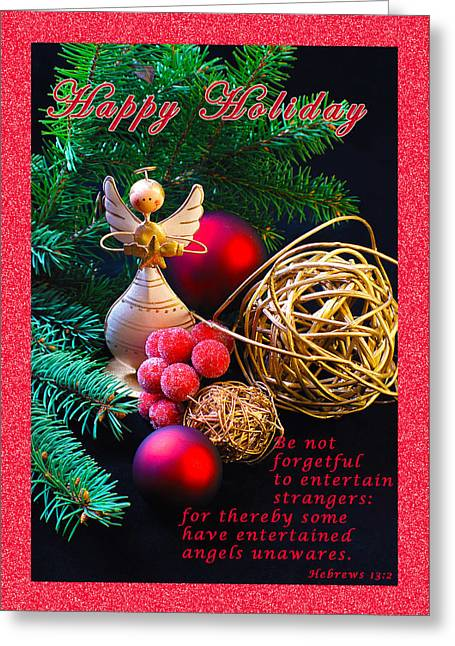 Be Good To An Angel-hh Greeting Card by Terry Wallace