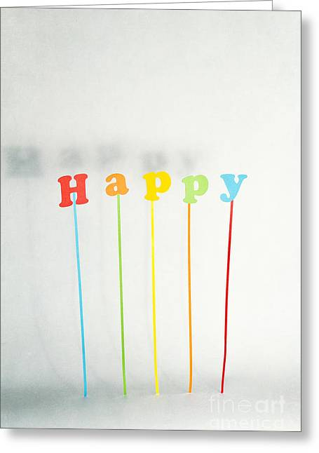 Be Happy Greeting Card by Catherine MacBride