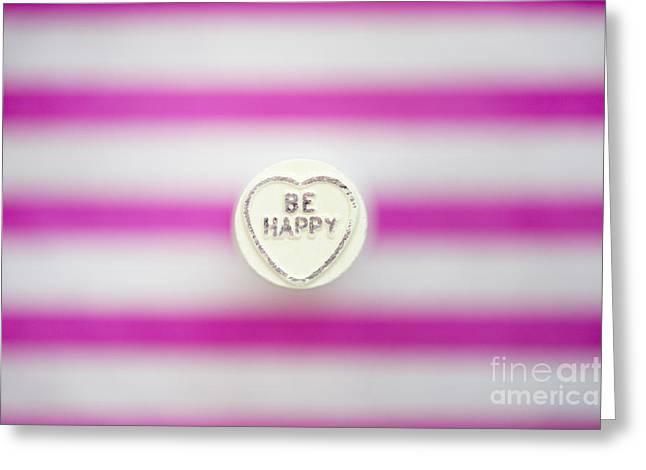 Be Happy Greeting Card by Tim Gainey