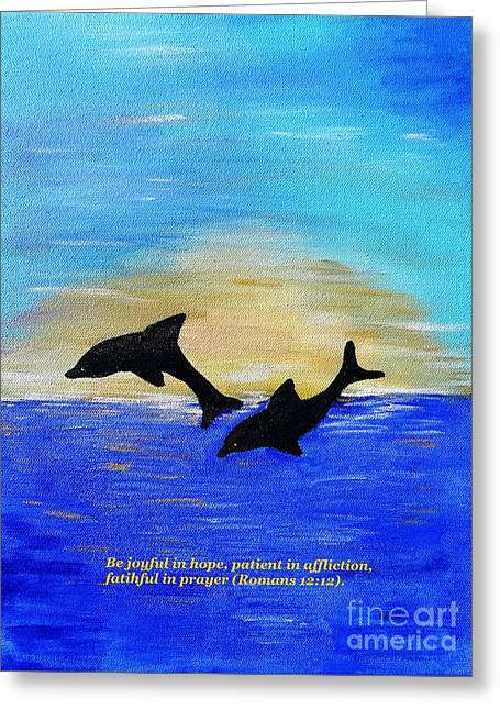 Be Joyful In Hope Greeting Card
