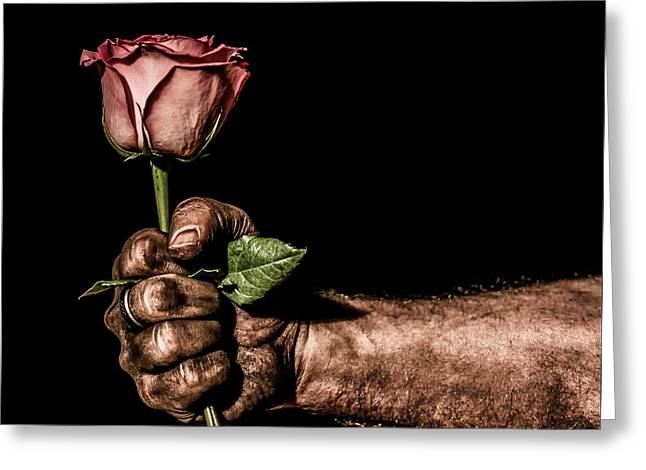 Be Mine Greeting Card by Aaron Aldrich
