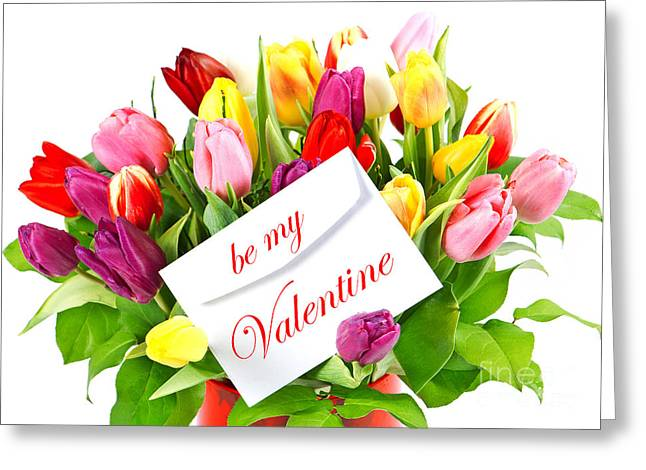 Be My Valentine Greeting Card by Boon Mee
