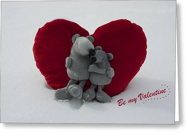 Be My Valentine  Greeting Card by Nicole Markmann Nelson