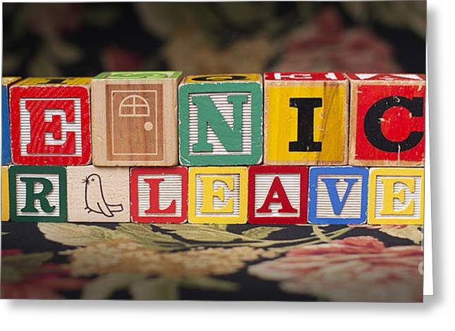 Be Nice Or Leave Greeting Card