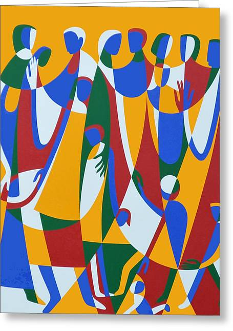 Be Patterns, Be Examples, 1998 Acrylic On Board Greeting Card by Ron Waddams