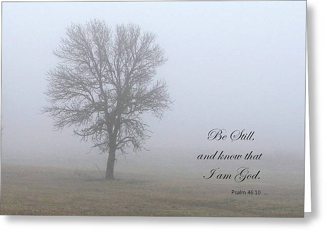 Be Still Greeting Card by Angie Vogel