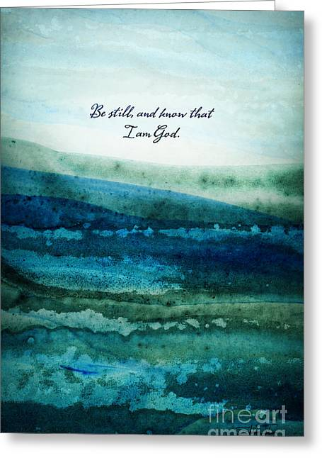 Greeting Card featuring the painting Be Still by Shevon Johnson