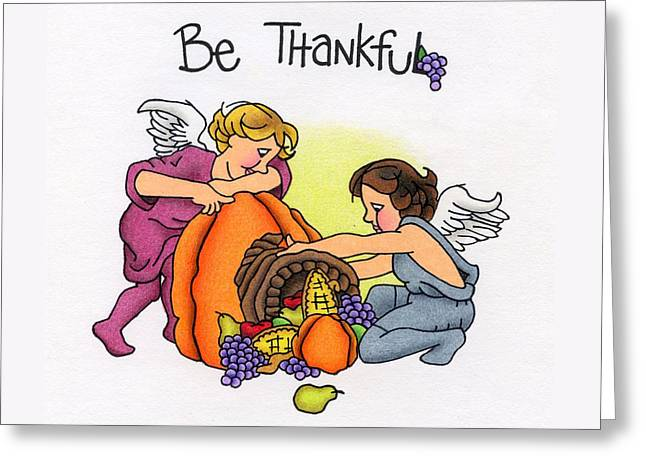 Be Thankful Greeting Card by Sarah Batalka