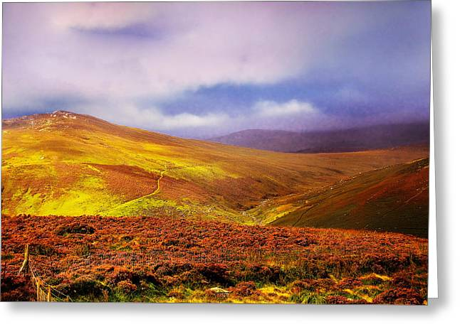 Be There The Light. Wicklow Hills Greeting Card