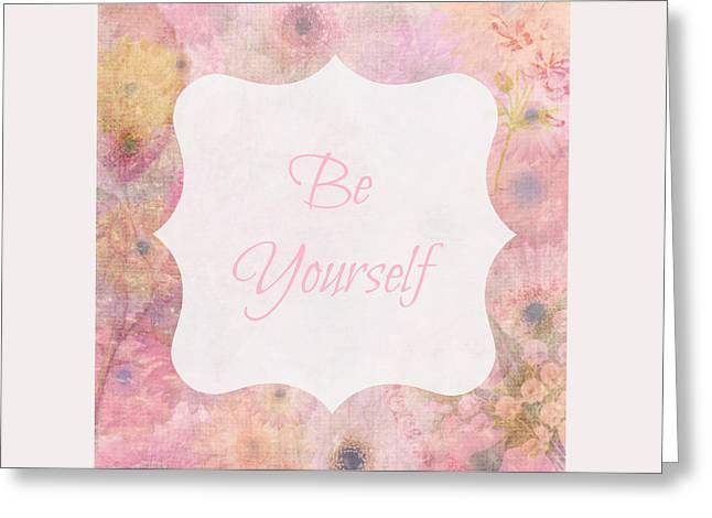Be Yourself Daisies Greeting Card