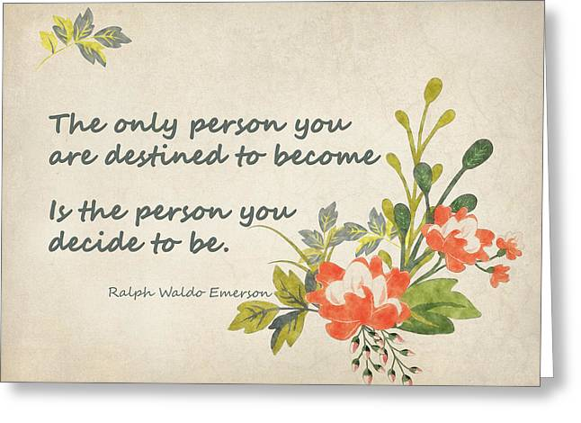 Be Yourself Greeting Card by Terry Fleckney