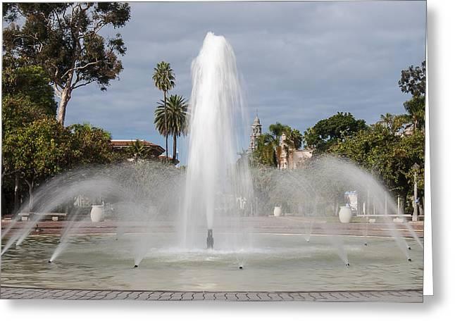 Bea Evenson Fountain In Balboa Park Greeting Card