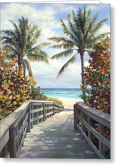 Beach Access Greeting Card by Laurie Hein