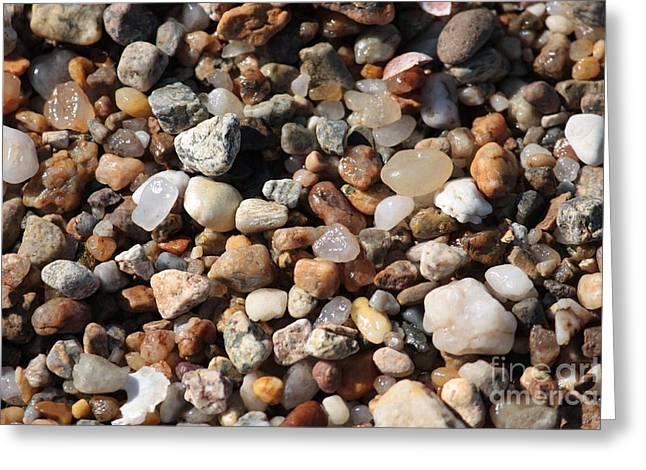 Beach Agates Greeting Card