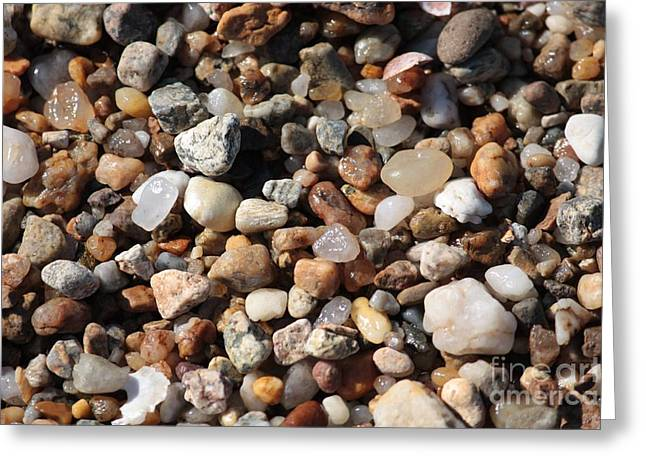 Beach Agates Greeting Card by Carol Groenen