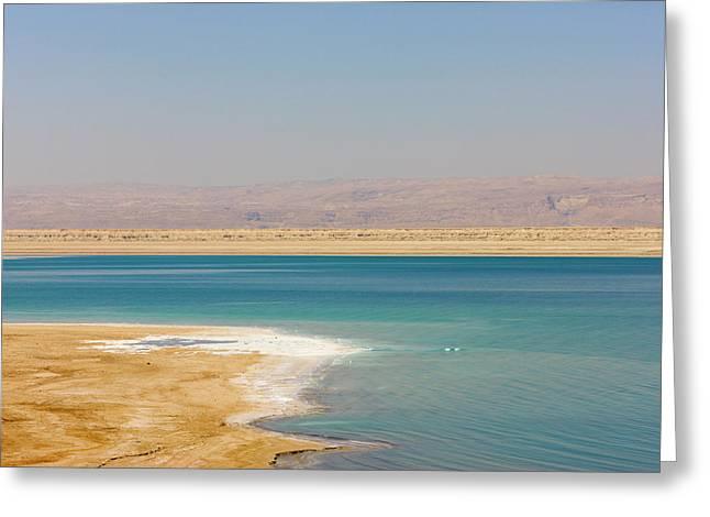 Beach Along The Dead Sea, Jordan Greeting Card