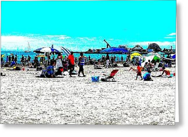 Beach And Carnival Greeting Card