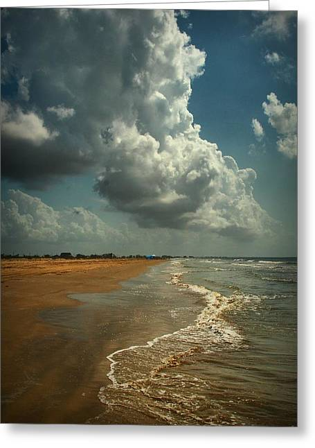 Beach And Clouds Greeting Card