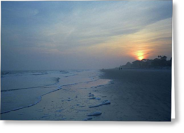 Beach And Sunset Greeting Card