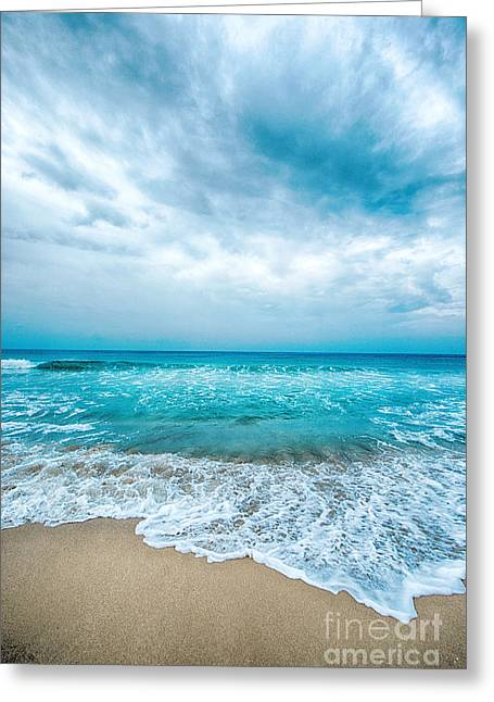 Beach And Waves Greeting Card