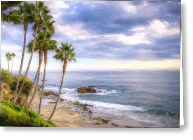Beach Art Greeting Card by Vicki Jauron