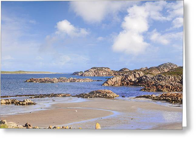 Beach At Fionnphort Mull Scotland Greeting Card by Colin and Linda McKie