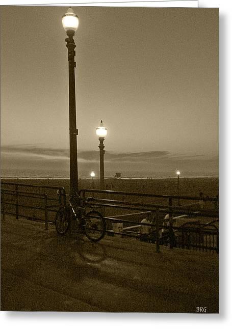 Beach At Night Greeting Card by Ben and Raisa Gertsberg