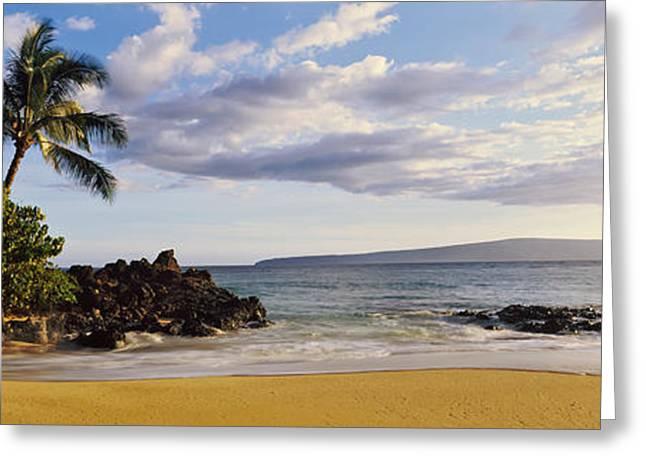 Beach At North Shore, Oahu, Hawaii, Usa Greeting Card by Panoramic Images