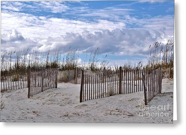 Greeting Card featuring the photograph Beach At Pawleys Island by Kathy Baccari