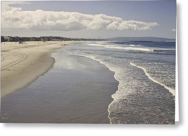 Beach At Santa Monica Greeting Card