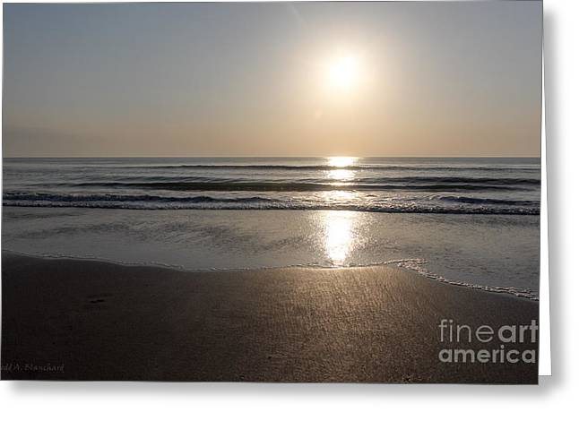 Greeting Card featuring the photograph Beach At Sunrise by Todd Blanchard