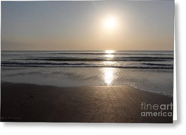 Beach At Sunrise Greeting Card