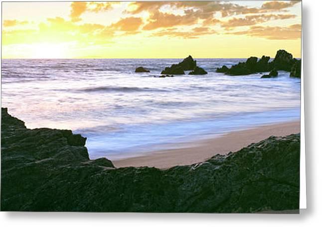 Beach At Sunset, Cerritos Beach, Baja Greeting Card by Panoramic Images