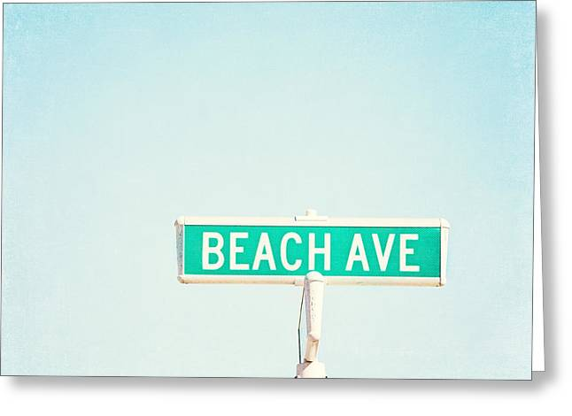 Beach Ave. Greeting Card by Carolyn Cochrane