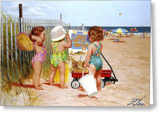 Beach Babies Greeting Card