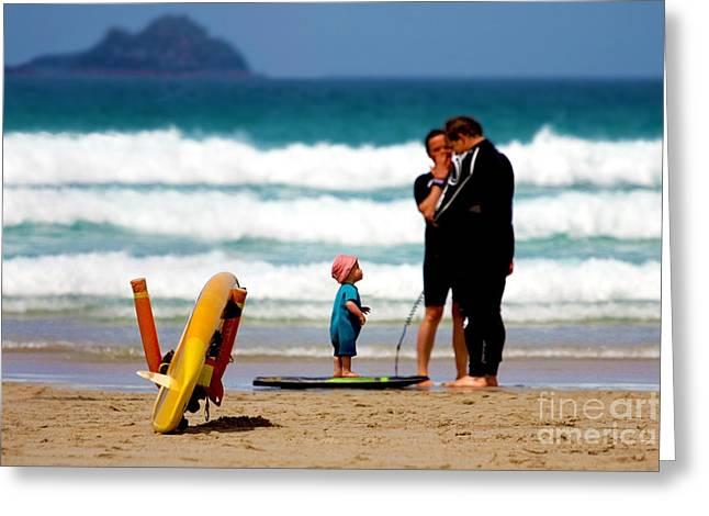 Beach Baby Greeting Card by Terri Waters