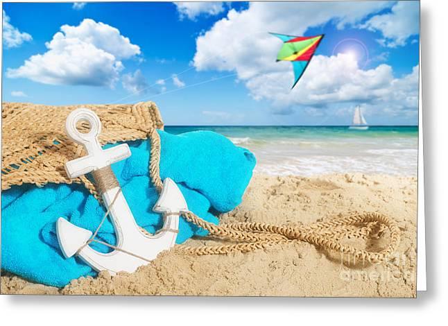 Beach Bag Greeting Card