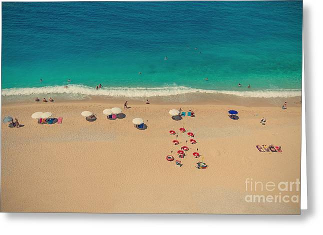 Beach Greeting Card by Bahadir Yeniceri