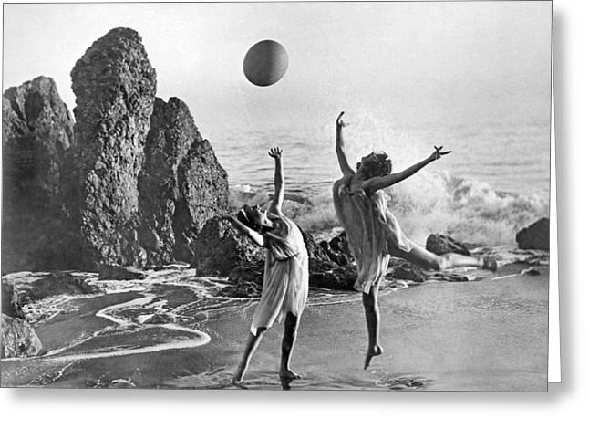 Beach Ball Dancing Greeting Card