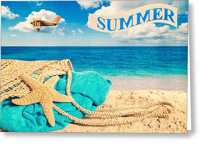 Beach Basket Greeting Card