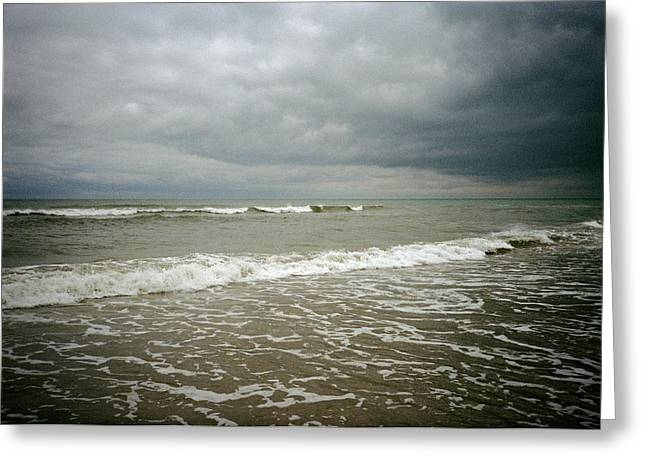 Beach Before The Storm Greeting Card