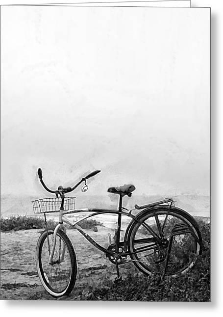 Beach Bike Greeting Card by Ron Regalado